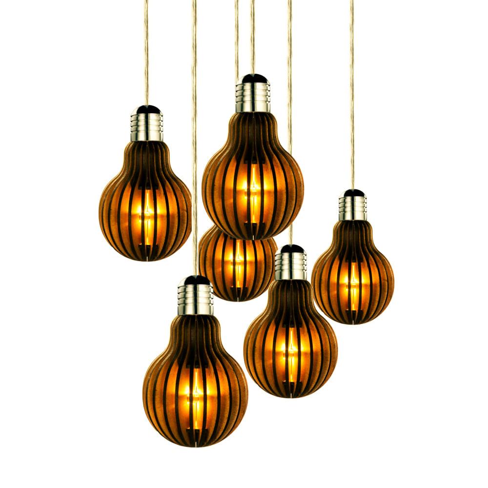 lustre a led com l mpadas edison retr pendentes de. Black Bedroom Furniture Sets. Home Design Ideas