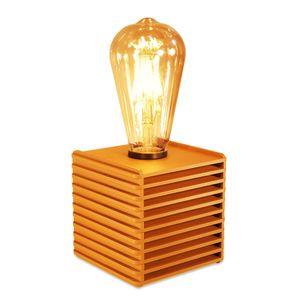 abajur-retro-com-lampada-vintage-laranja