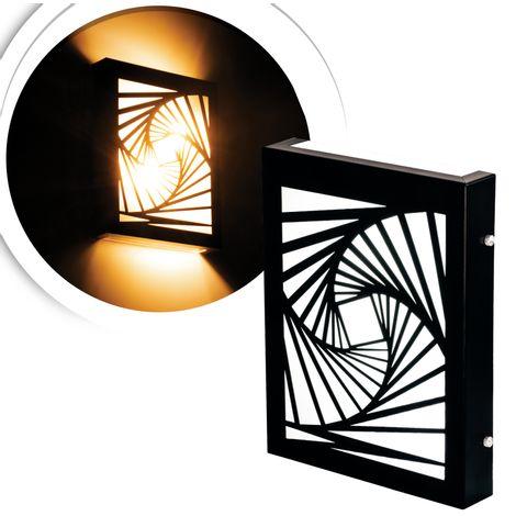 arandela-flat-preta-fibonacci-com-led-quente