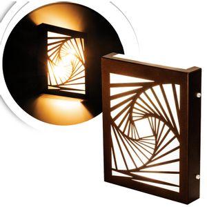 arandela-flat-marrom-fibonacci-led-quente