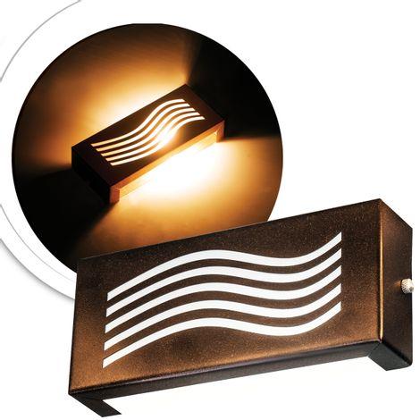 arandela-retangular-marrom-com-led-branco-quente