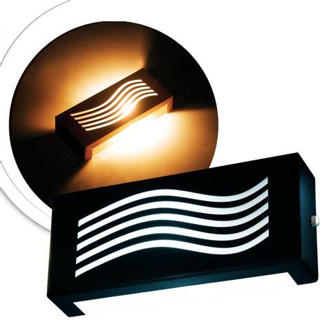 arandela-retangular-preta-com-led-branco-quente