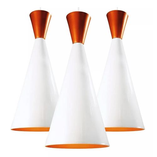 Pendente-tom-Dixon-branco-com-cobre