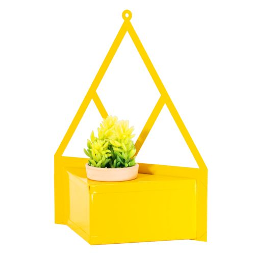 porta-vaso-amarelo-de-parede-design