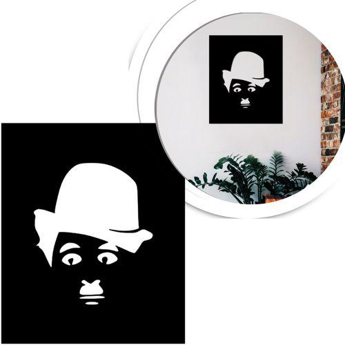 quadro-charles-chaplin-preto-vazado