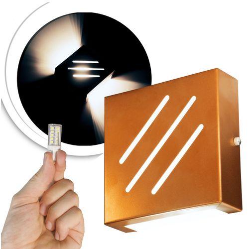 arandela-cobre-frisada-com-led-5000k