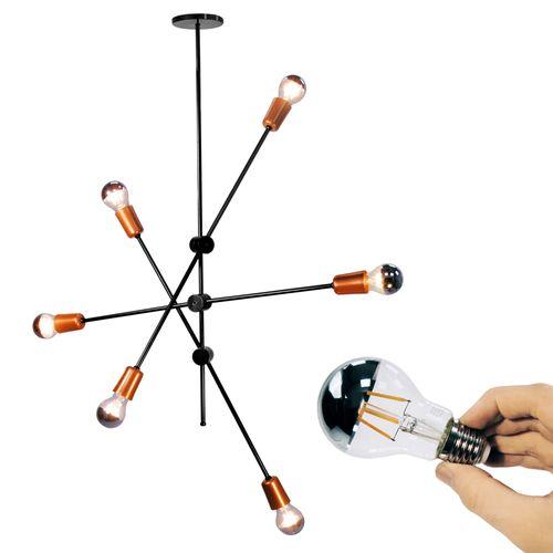 lustre-sputnik-com-lampadas-espelhadas