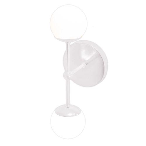 arandela-com-bola-de-vidro-dupla-branca