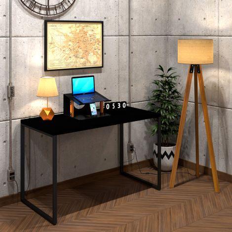 mesa-diretor-preta-metal-e-madeira